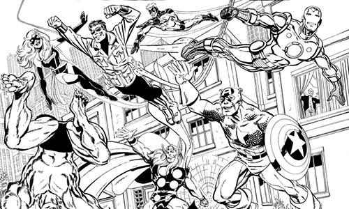 Avengers Da Colorare Favole E Fantasia